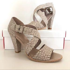 DKNYC Shoes - DKNY Chunky Heeled Sandals Faux Snakeskin